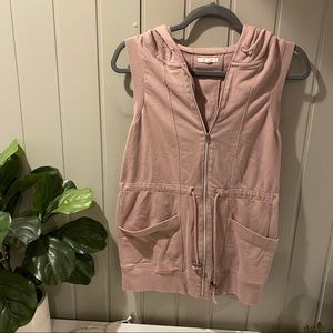 Maurices Pink Hooded Vest